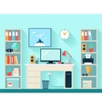 Workspace In Room vector image