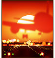 aircraft and the setting sun vector image