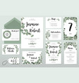 wedding invitation card eucalyptus design vector image