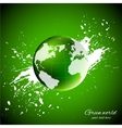 Green world Ecology concept vector image vector image