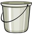 Tin bucket vector image vector image
