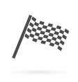 finish flag icon vector image