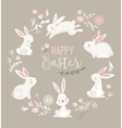 Easter design with cute banny and text hand drawn vector image vector image