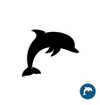 Dolphin simple black silhouette logo Sea freedom vector image