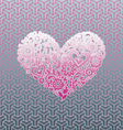 Love shape Graphic with pattern background vector image