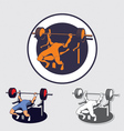 bench press vector image