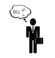 bill with man icon vector image