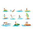 characters do summer water sport set vector image