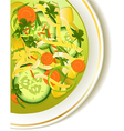 Cucumber soup vector image
