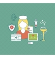 Health care and medical research vector image