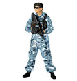 soldier navy vector image