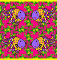 watercolor texture fish pattern magenta green vector image