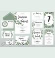 wedding invitation card eucalyptus design vector image