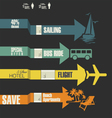 Travel infographics options banner with arrows vector image