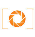 Orange photography logo vector image vector image