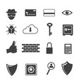big data icon computer criminal icons set vector image