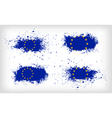 Set of four grunge ink spattered European Union vector image vector image
