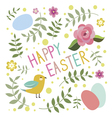 Happy Easter print with bird vector image