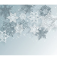 Silver winter abstract Christmas Background vector image vector image