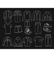 MInimalistic Men clothes and shoes vector image