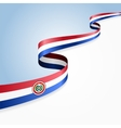 Paraguayan flag background vector image