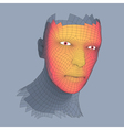 Head of the Person from a 3d Grid Human Head vector image vector image