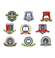 Academy university and college heraldic emblems vector image