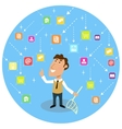 Abstract social communication concept vector image
