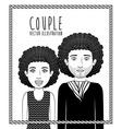 Couple design vector image