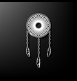 dream catcher sign gray 3d printed icon vector image