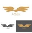 eagle mark isolated on white background vector image