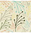 Hand drawn floral seamless pattern with leaves vector image