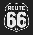 t-shirt print design route 66 vintage stamp vector image