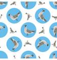 watercolor sea gull seamless pattern hand drawn vector image