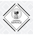 catering service menu food icon vector image