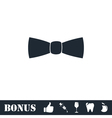Bow tie icon flat vector image