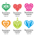 logo heart pattern vector image