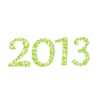 2013 year ecology sign vector image