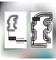 Business card design with letter f vector image