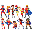 A group of heroes vector image