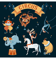 circus characters vector image
