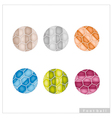 Set of Multi Colored Footballs or Soccer Balls vector image vector image