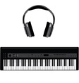 Synthesizer and headphones vector image