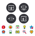 automatic door icons elevator symbols vector image
