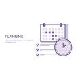 business planning concept corporate time vector image