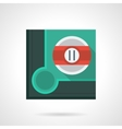 Eleventh pool ball flat square icon vector image