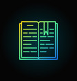 Open book colorful icon vector image