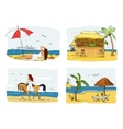Summer holidays concept Woman vector image