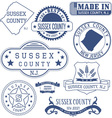 Sussex county New Jersey stamsp and seals vector image