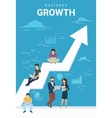 Business growth concept of people vector image